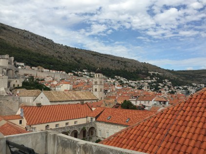 Looking over the Old City frm atop the wall