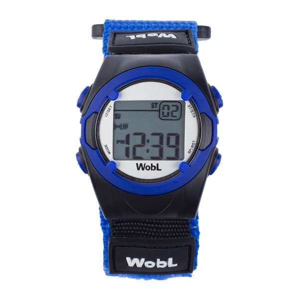 WobL vibrating alarm reminder watch, blue; for potty training, medication reminders, meeting reminders, and more.