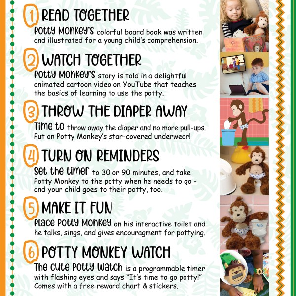 Steps to make the most of Potty Monkey for potty training.