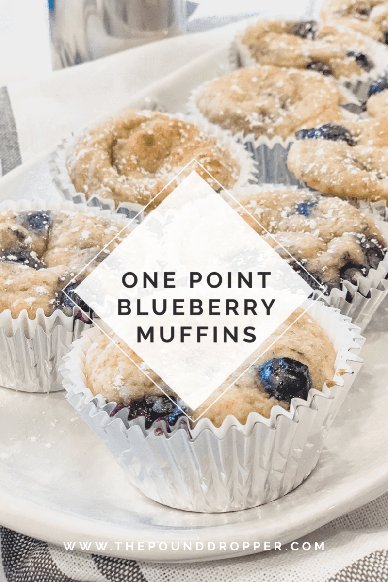 One Point Blueberry Muffins via @pounddropper