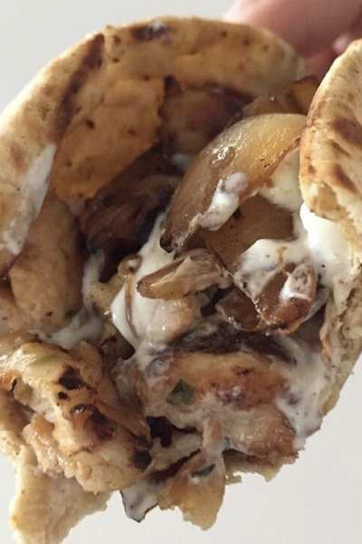One Point Chicken Gyro with Tzatziki Sauce