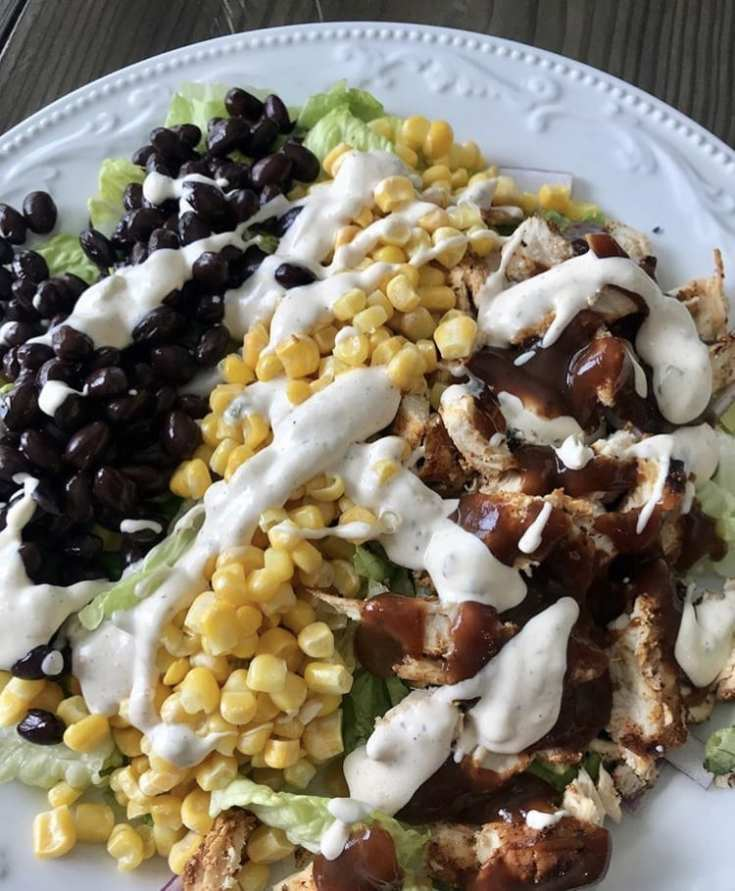 Skinny BBQ Chicken Salad