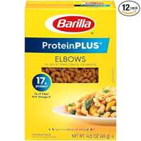 Barilla ProteinPLUS Multigrain Elbows Pasta, High Protein Pasta
