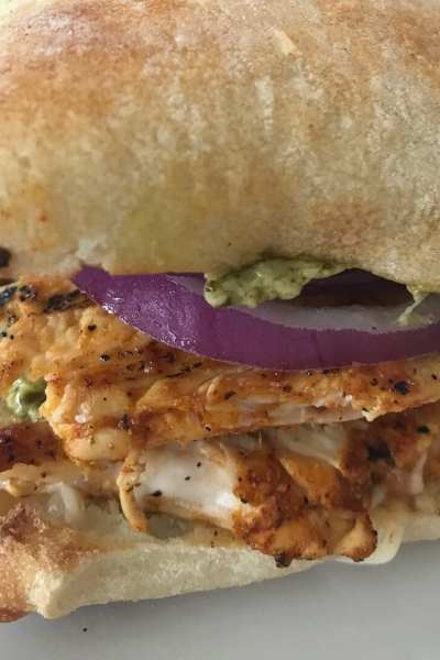 Creamy Pesto Chicken Sandwich
