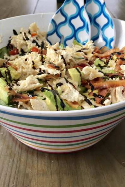 Bacon, Avocado, Chicken Pasta Salad