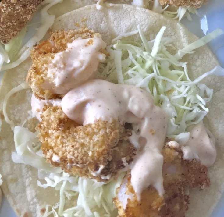Crispy Cajun Shrimp Tacos