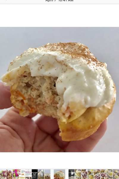 One Point Carrot Cake Protein Cupcakes