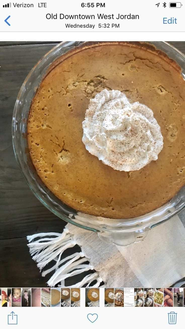Zero Point Crustless Pumpkin Pie