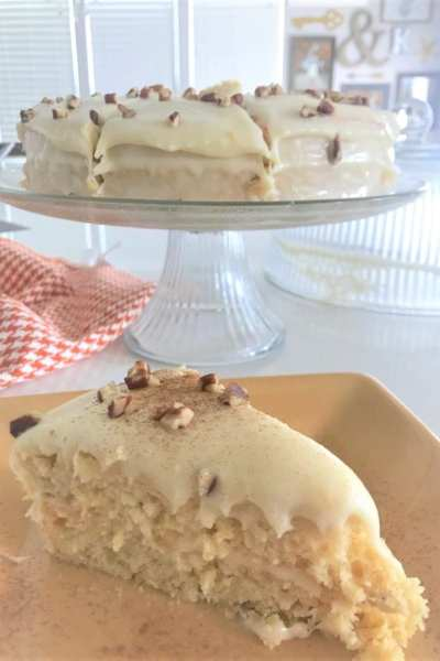 Lightened Up Hummingbird Cake
