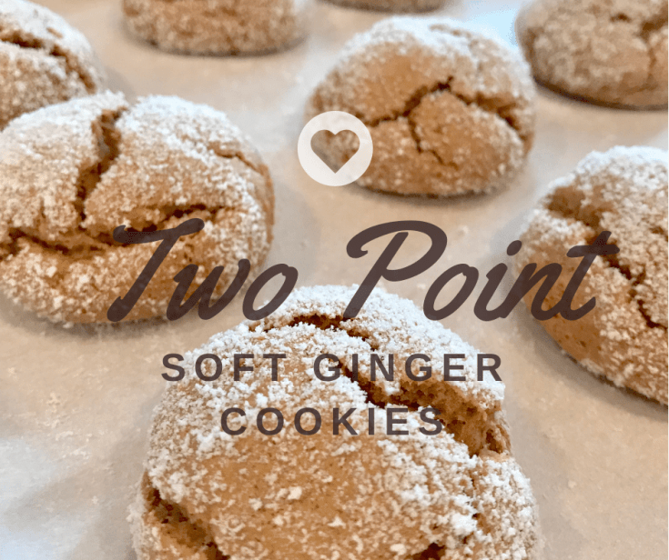 2 Point Soft Ginger Cookies