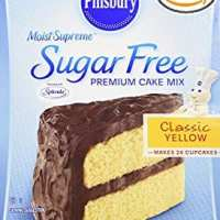 Pillsbury sugar-free yellow cake mix
