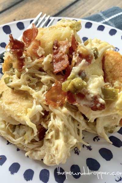 Jalapeño Popper Chicken Biscuit Casserole