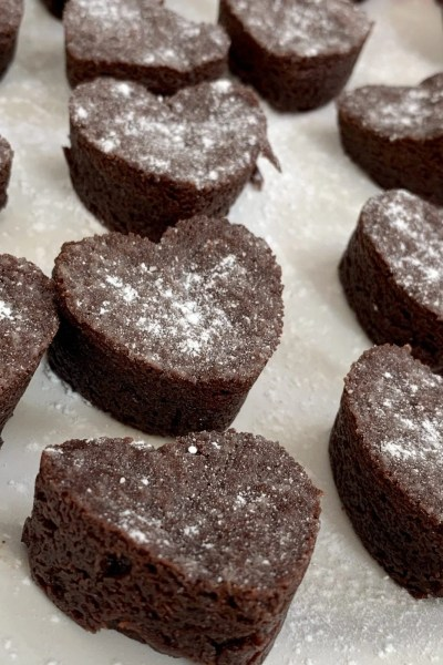 Bite Size Valentine Brownies