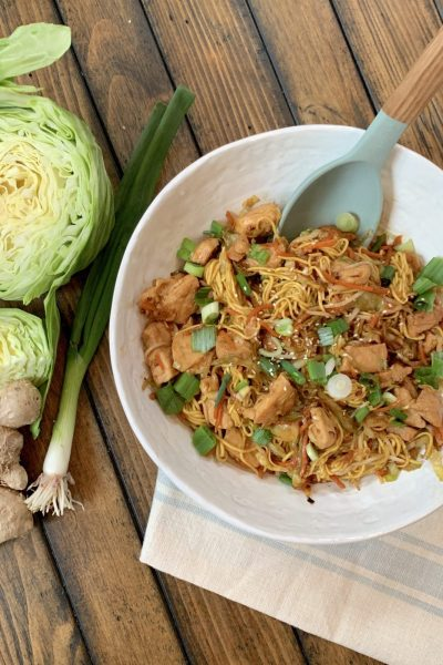 Lighter Chicken Chow Mein