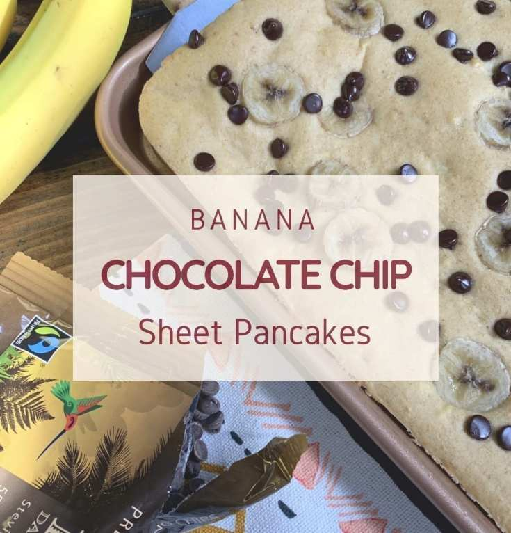Banana Chocolate Chip Sheet Pancakes