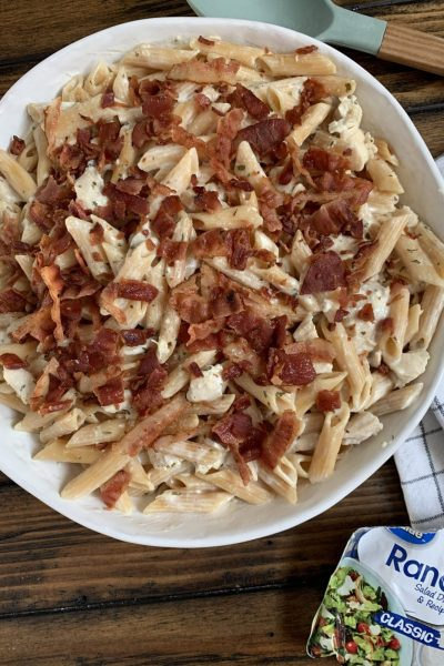 Creamy Bacon Ranch Chicken Pasta
