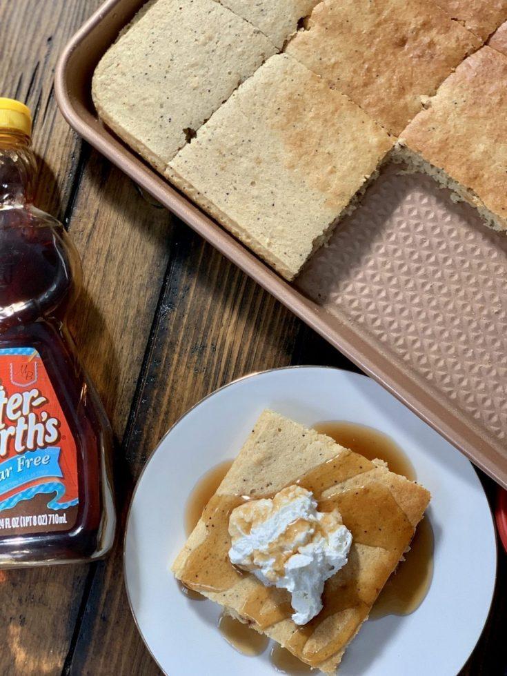 Almond Poppy Seed Sheet Pancakes