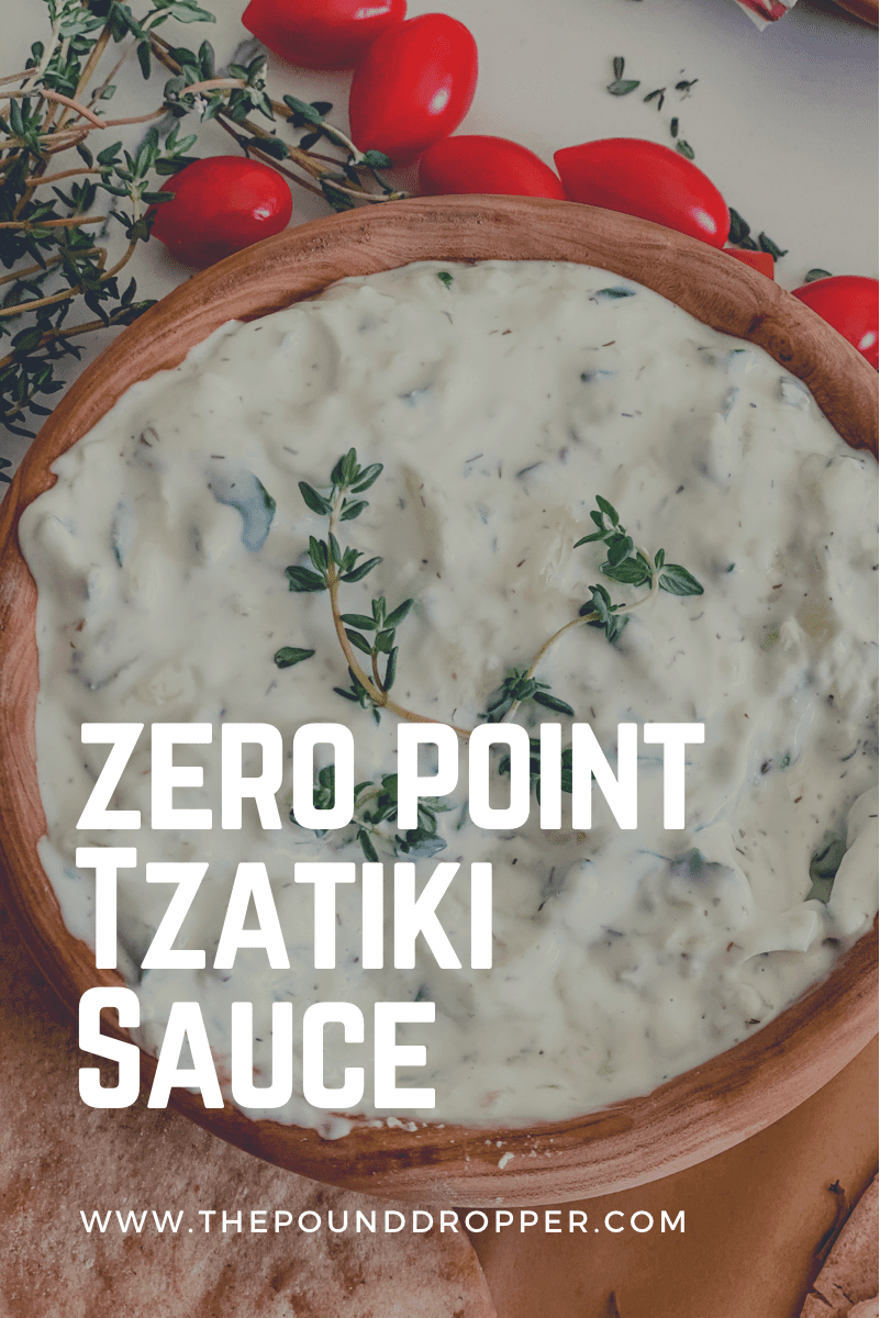 This Zero Point Tzatziki Sauce can be used as a dressing for gyros, Greek salad, or as a delicious dipping sauce for veggies. via @pounddropper