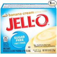 sugar free Banana Cream Instant Pudding mix