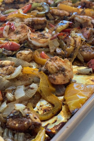 Zero Point Sheet Pan Shrimp Fajitas