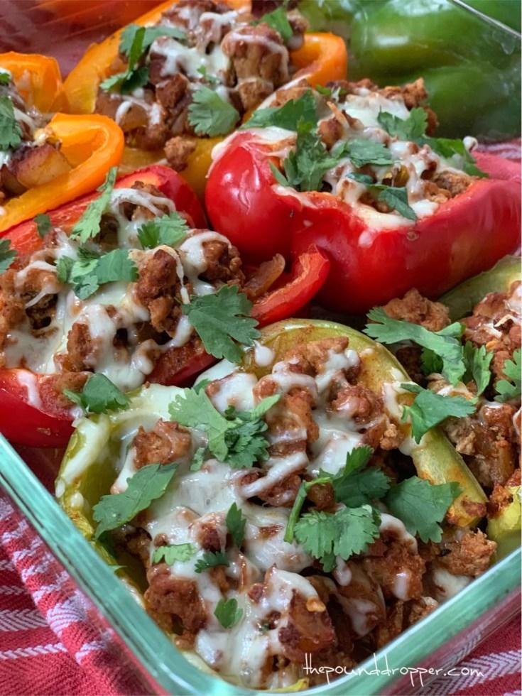 Easy Enchilada Stuffed Peppers