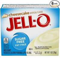 JELL-O Instant Cheesecake Pudding & Pie Filling Mix (1 oz Boxes, Pack of 6)