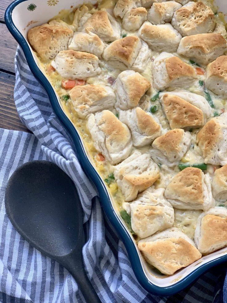 Chicken Pot Pie Biscuit Casserole