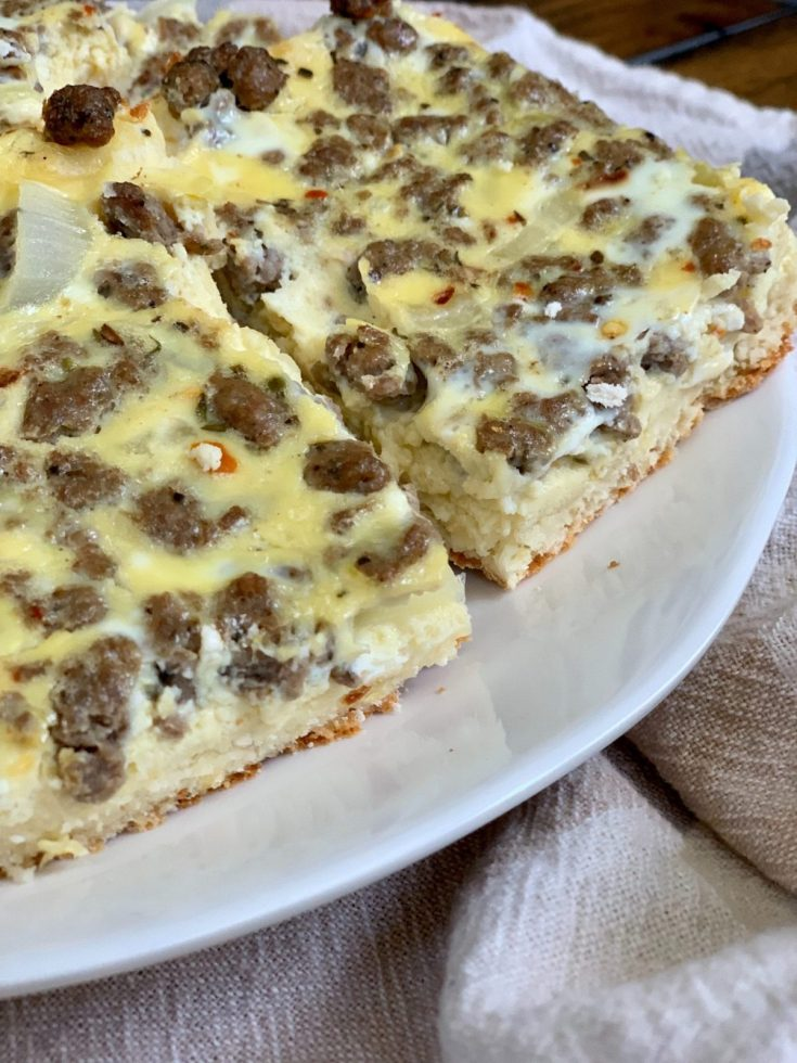Egg and Sausage Breakfast Squares