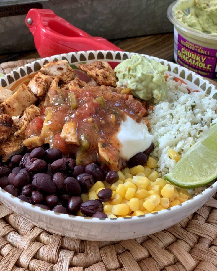 Weight Watchers Chicken Burrito Bowls