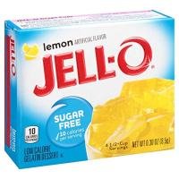 JELL-O Sugar Free Lemon Gelatin Dessert Mix (0.3 oz Boxes, Pack of 6)