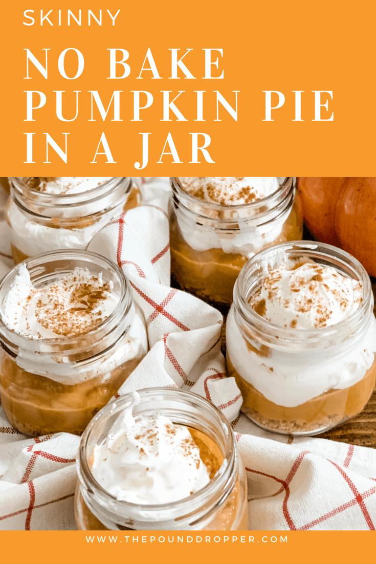 Skinny No Bake Pumpkin Pie in a Jar