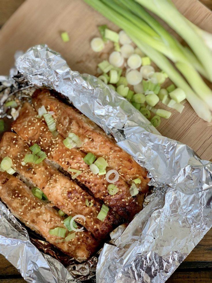 Asian Glazed Salmon in Foil
