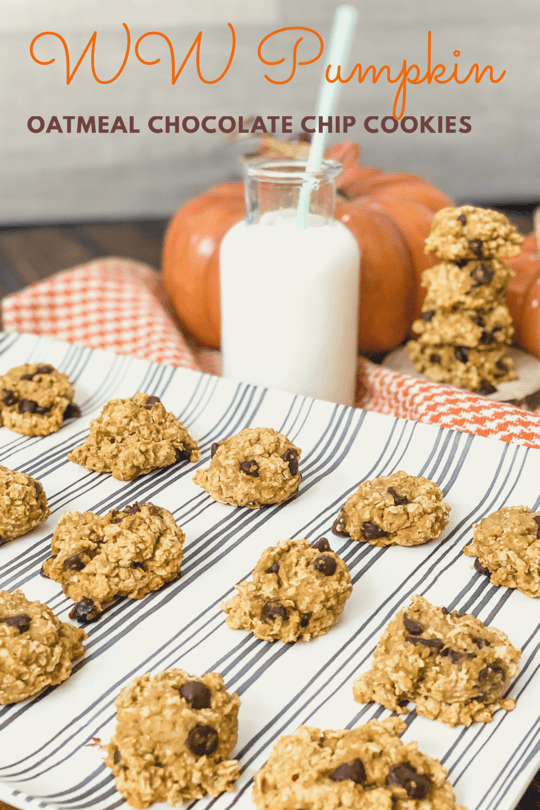 WW Pumpkin Oatmeal Chocolate Chip Cookies