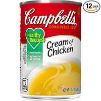 Campbell's Condensed Healthy Request Cream of Chicken Soup, 10.5 oz. Can (Pack of 12)