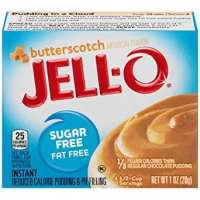JELL-O Butterscotch Instant Fat Free Pudding & Pie Filling Mix (1 oz Boxes, Pack of 6)