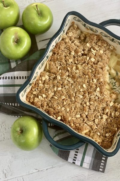 Easy Low Point Apple Crisp