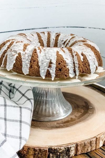 Skinny Gingerbread Bundt Cake