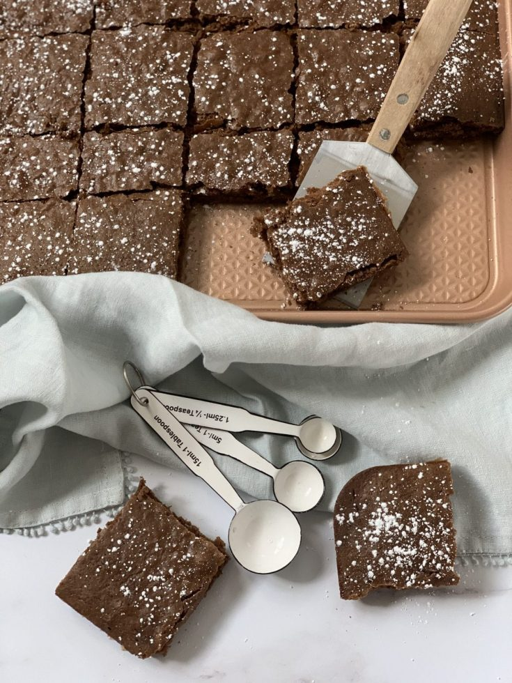 One Point Sheet Pan Brownies