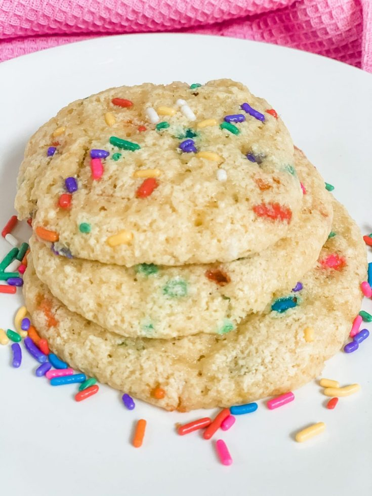 Two Point Funfetti Cake Mix Cookies