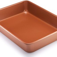 Rectangle Nonstick Bakeware 9-Inch-by-13-Inch Baking Pan with Quick Release Coating, Brown