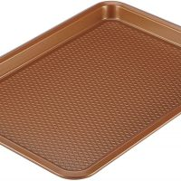 Nonstick Cookie Sheet / Baking Sheet - 10 Inch x 15 Inch, Copper Brown
