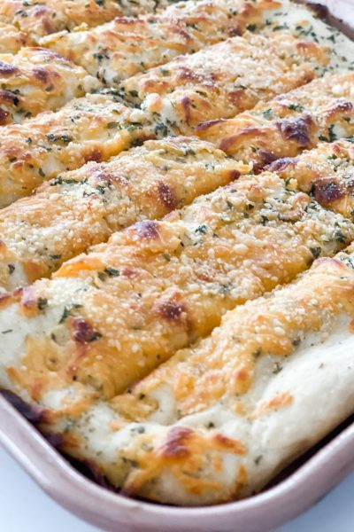 Cheesy Sheet Pan Breadsticks