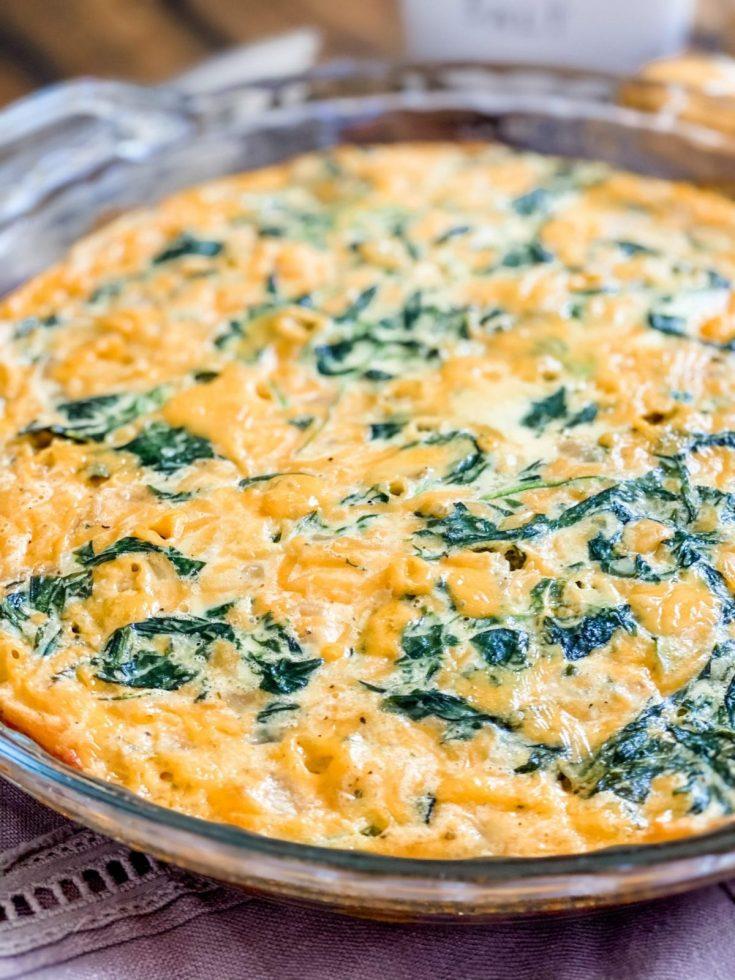 Easy Crustless Spinach Quiche