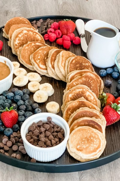 Silver Dollar Pancake Charcuterie Board