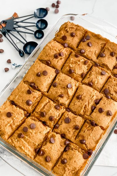 Easy WW Pumpkin Chocolate Chip Bars