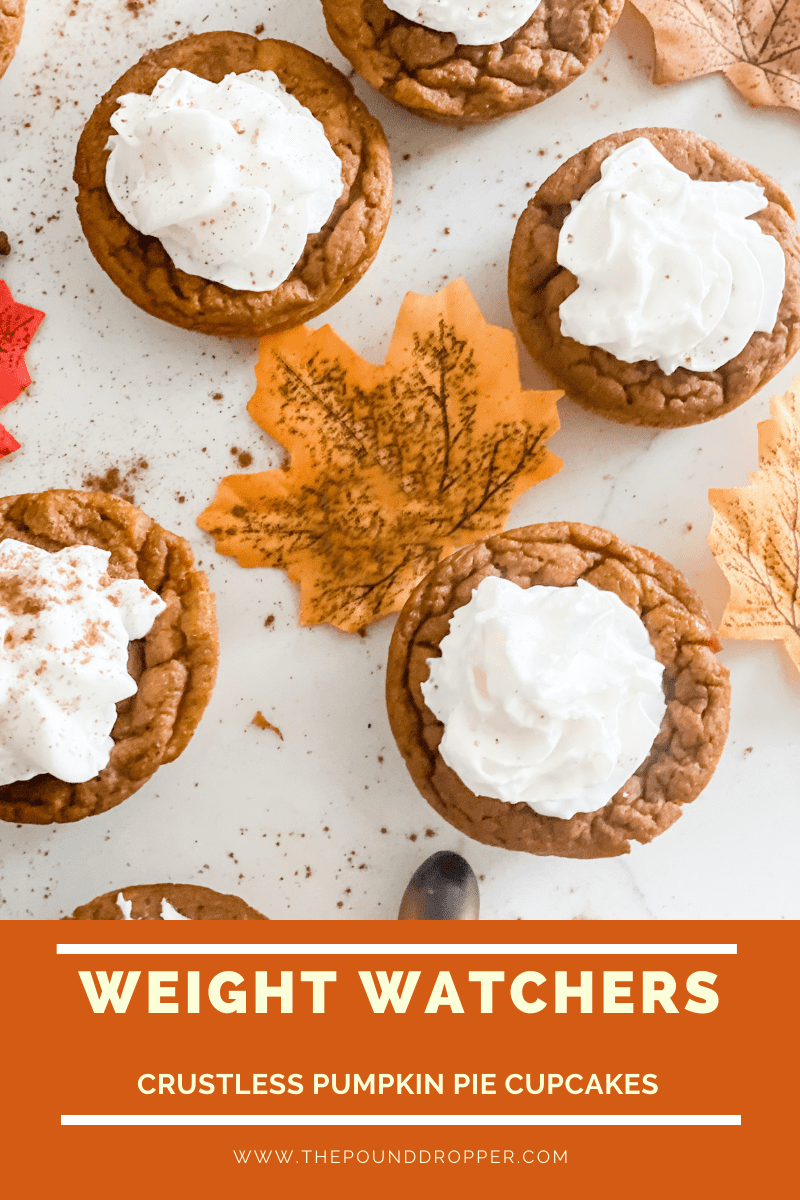 Weight Watchers Crustless Pumpkin Pie Cupcakes via @pounddropper