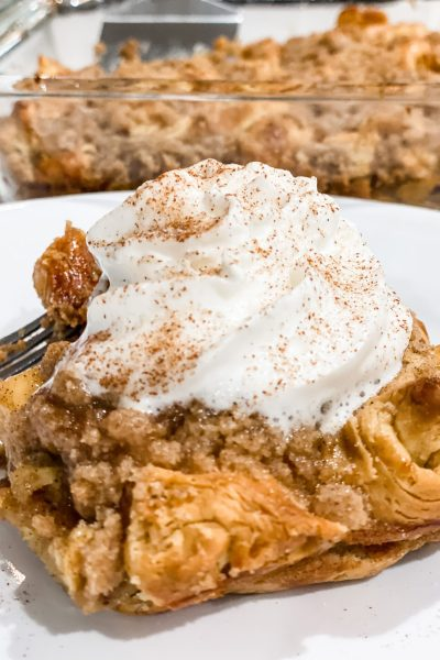 Cinnamon Sugar Croissant French Toast Bake