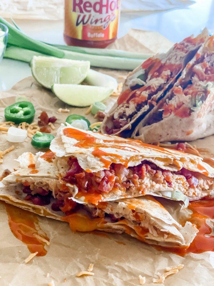 Buffalo Chicken Folded Wrap