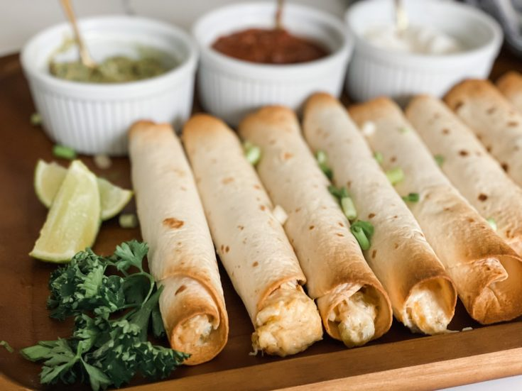 Easy Creamy Chicken Flautas (Baked or Air Fried)