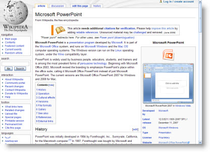 Wikipedia on PowerPoint | The PowerPoint Blog
